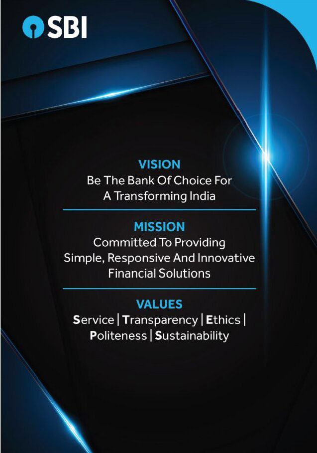 Vision be the bank of choice for a transforming india , Mission committed to providing simple , reponsive and innovative finacial solutions