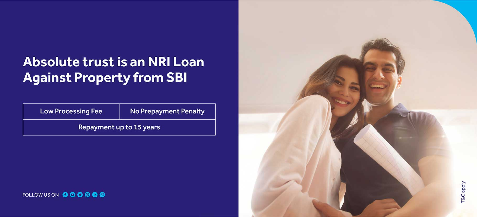 Absolute trust is an Nri loan againest property from sbi